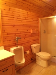 His bathroom on 2nd floor of Torch Lake Lodge.