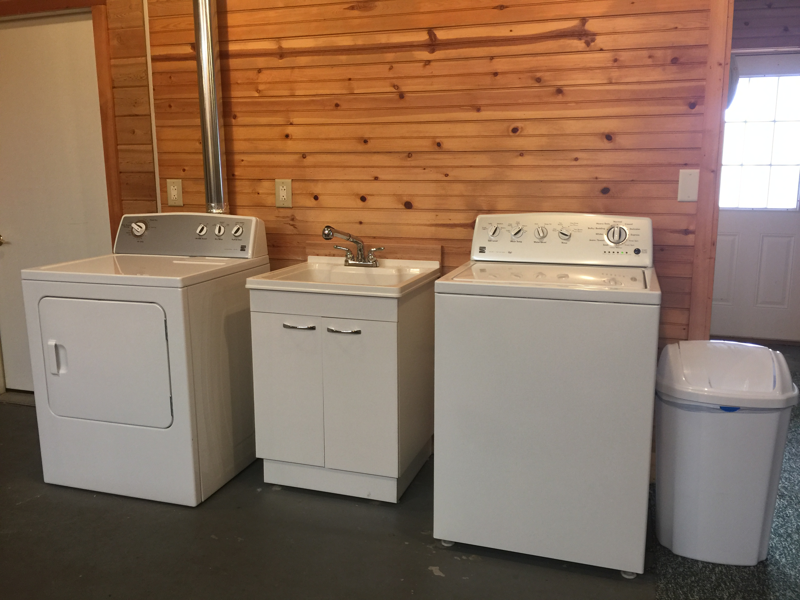 Washer and dryer at Torch Lake Lodge. Available to you exclusively 24/7. Both are only one year old.